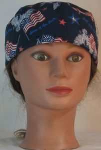 Skull Cap in White Eagle Flag Home of the Brave - front