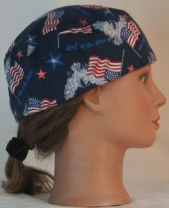 Skull Cap in White Eagle Flag Home of the Brave - right