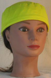 Skull Cap in Yellow Maxdri Wicking - front