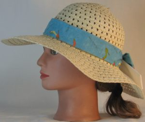 Floppy Hat Band in Objects of Desire Shoes on Aqua Ties White - right
