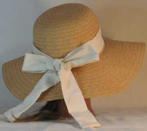 Floppy Hat Band in Pressed Circles on Cream - back