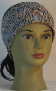 Headband in Multi-color Variegated Alpha-Tek MaxDri Microblok - front