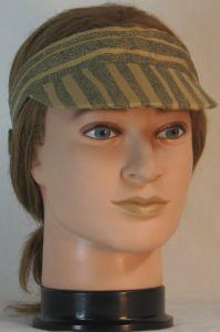 Visor in Tan with Dotted Waves of Black Dots - front