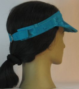 Visor in Turquoise Dyed - back right