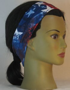 Headband in Red White Blue American Flag Parts in Narrow - right