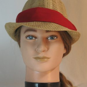 Floppy Hat Band in Burgundy - front