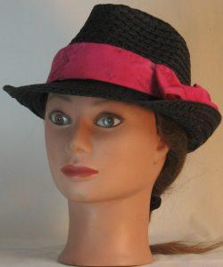 Floppy Hat Band in Pink Magenta Batik - front