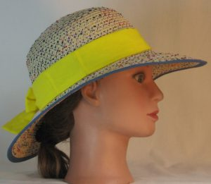 Floppy Hat Band in Bright Yellow - right