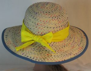 Floppy Hat Band in Bright Yellow - back