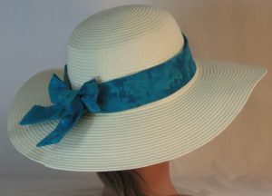 Floppy Hat Band in Turquoise Dyed - back