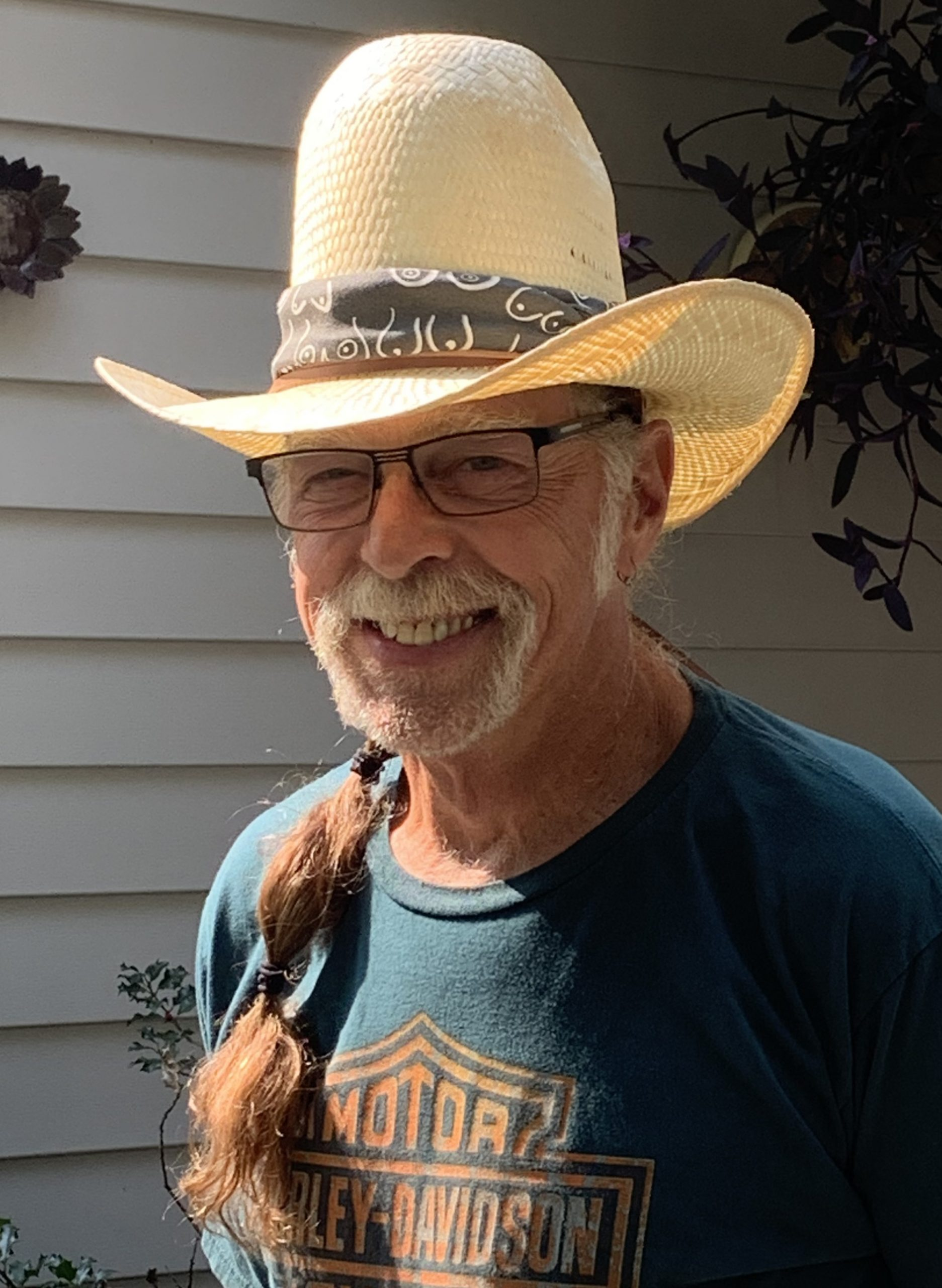 TR Boob Hat Band on Cowboy Hat